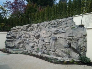 backyard waterfall sandhurst 1413 place west vancouver