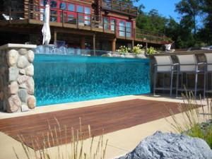 see through pool